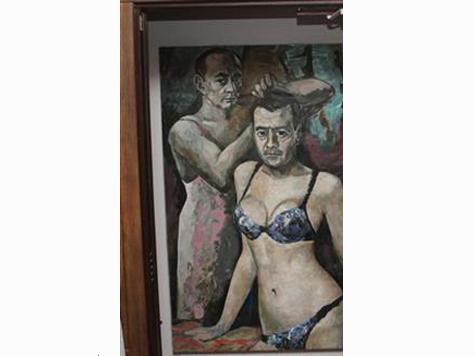Artist Who Painted Putin in Underwear Flees Russia