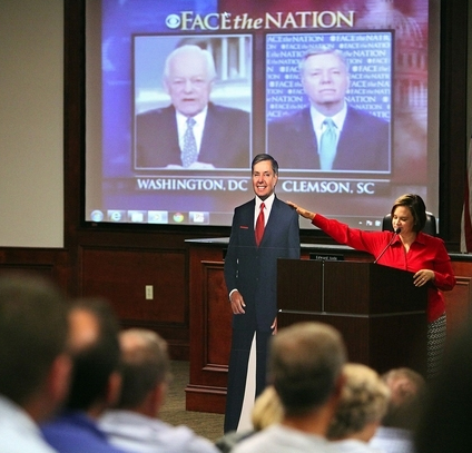 SC Conservatives Hold Lindsey Graham 'Cardboard Cutout' Town Hall