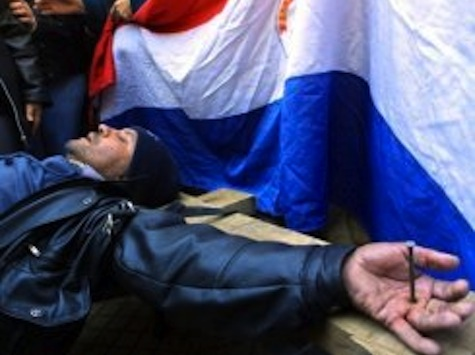 Paraguay bus drivers stage 'crucifixion' protest