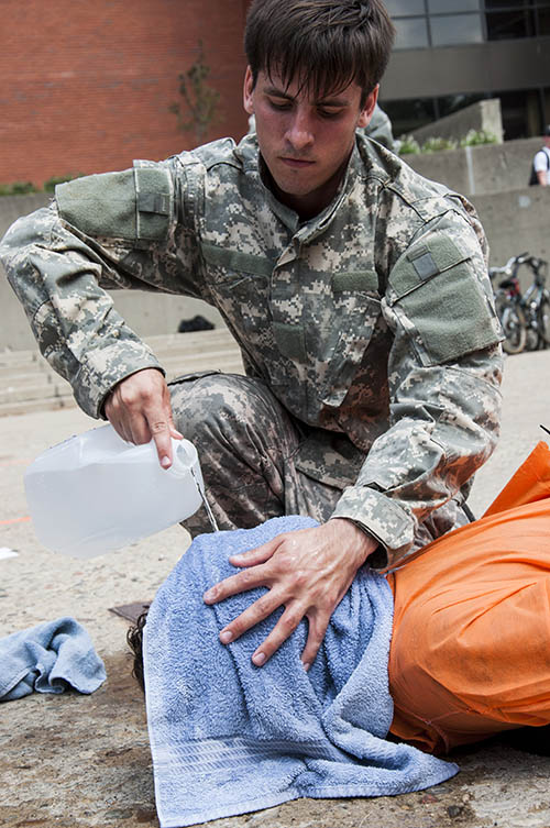 Students Waterboard Each Other to Protest Guantanamo Bay