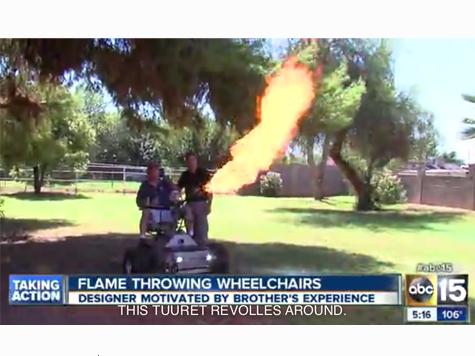 Man Designs Flame-Throwing Wheelchair