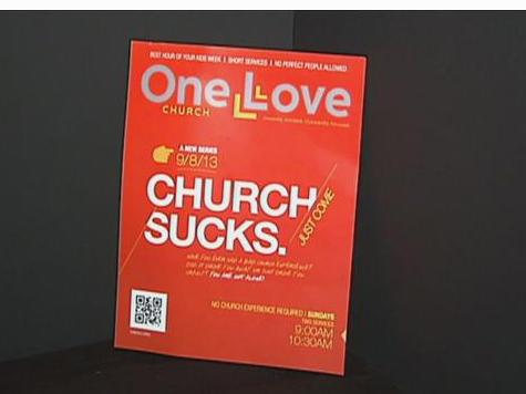 Pastor Recruiting New Members with New Slogan: 'Church Sucks'