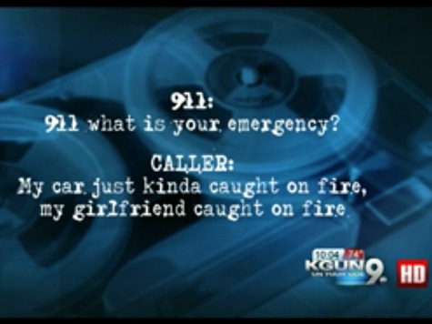 AUDIO: 911 Operator Laughs When Man Reports Girlfriend on Fire