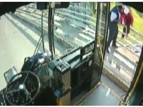 VIDEO: Bus Driver Pulls Over to Prevent Woman From Jumping Off Bridge