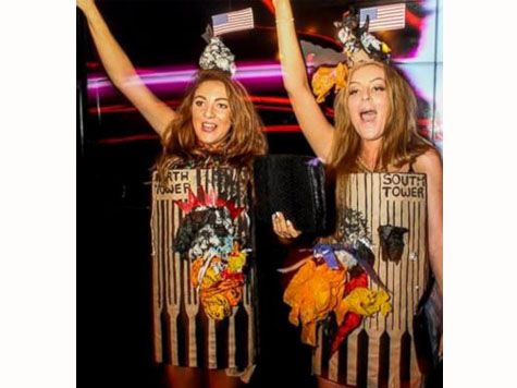 2 British Students Win Costume Contest Dressed As Burning Twin Towers