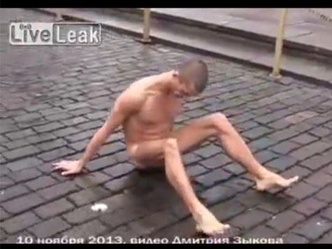 Artist Nails Own Testicles to Ground in Public Protest Against Government