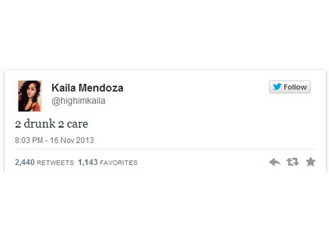Report: Woman Tweeted '2 Drunk 2 Care', Then Kills 2