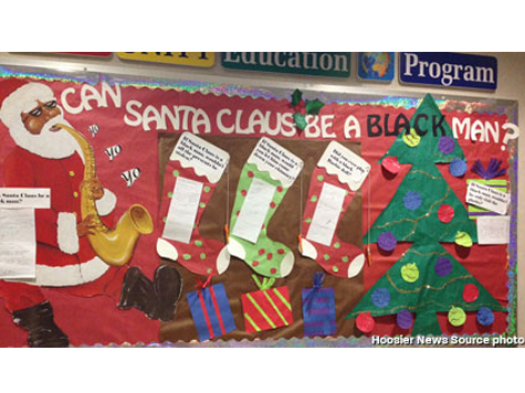 "Indiana University Removes Controversial ""Black Santa"" Display"