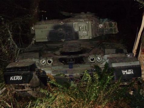 Man Cited After Crashing 50-Ton Vintage Battle Tank