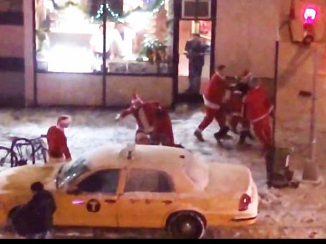 VIDEO: Santas Brawl Near Union Square