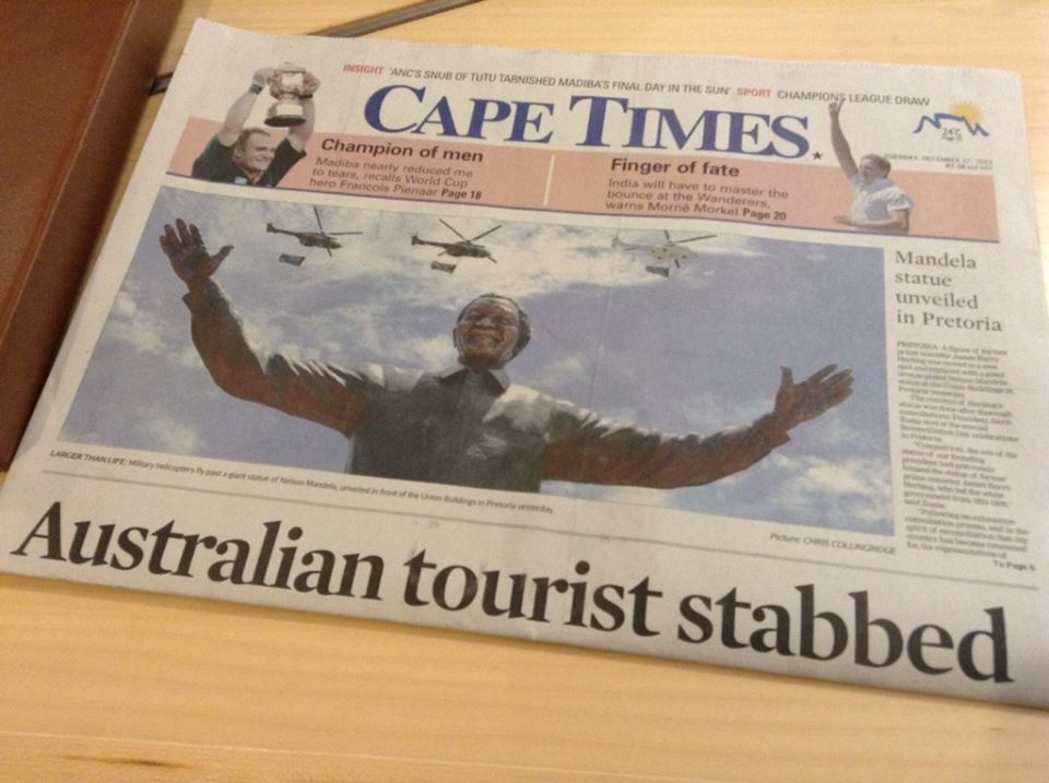 South Africa Journal: Have Fun! Try Not to Die.