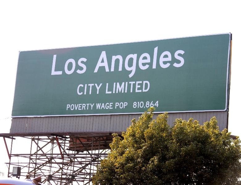LA Unions Use 'Provocative' Billboard to Campaign for $15 Minimum Wage