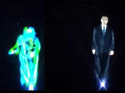 Turkish Prime Minister Delivers Speech As a Hologram
