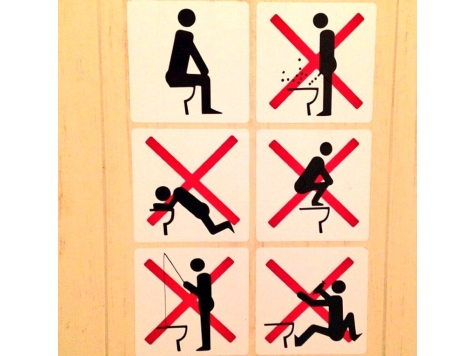No Fishing Allowed in Olympic Toilets