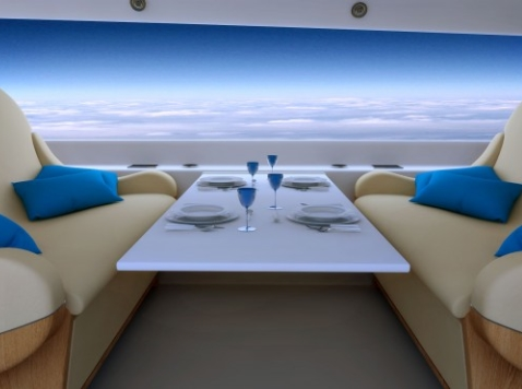 New Supersonic Jet Tricked Out with Massive Live-Streaming Screens