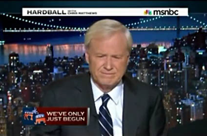 MSNBC's Chris Matthews the Least Likable News Anchor