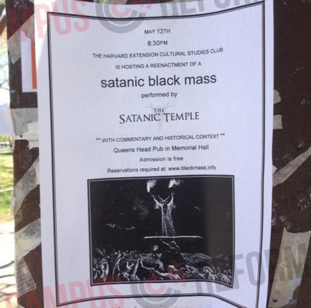 Harvard Student Club to Host Satanic Black Mass