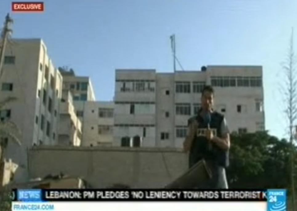 The 'Smoking Gun': France24 Reporter Finds Hamas Rocket Launcher by UN Building