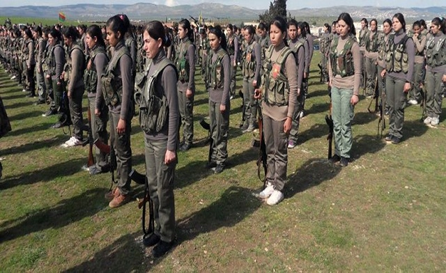 Kurdish Female Warriors On The Front Lines Fighting ISIS in Iraq and Syria