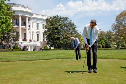 Staycation: Obama turns 51; plays golf, will go to Camp David