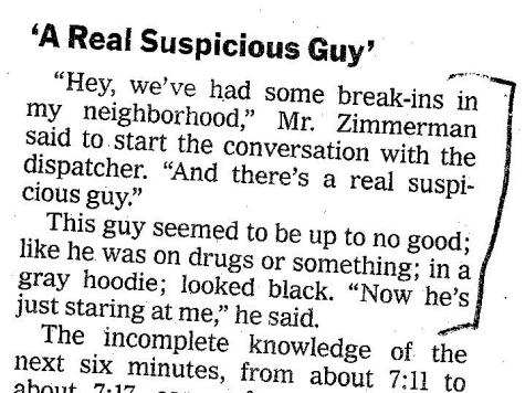 NYT Zimmerman Edit Even Worse in Print Edition