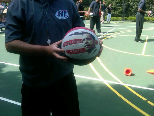 White House Easter Egg Roll Features Obama-Faced Basketballs