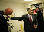 Obama Plays Hoop with Hollywood's Top 1%