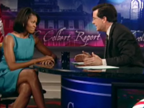 First Lady to Give Low-Rated 'Colbert Report' Ratings Boost
