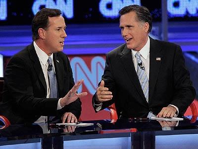 Santorum, Romney duel in Ohio, split other states